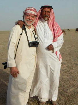 Wayne with Shaikh Jaber of the Al Amrah, Saudi Arabia
