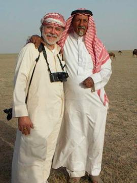 Wayne with Shaikh Jaber of the Al Amrah, Saudi Arabia