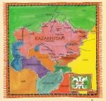 Map, Kazakhstan, Geography, Bill McCaffery
