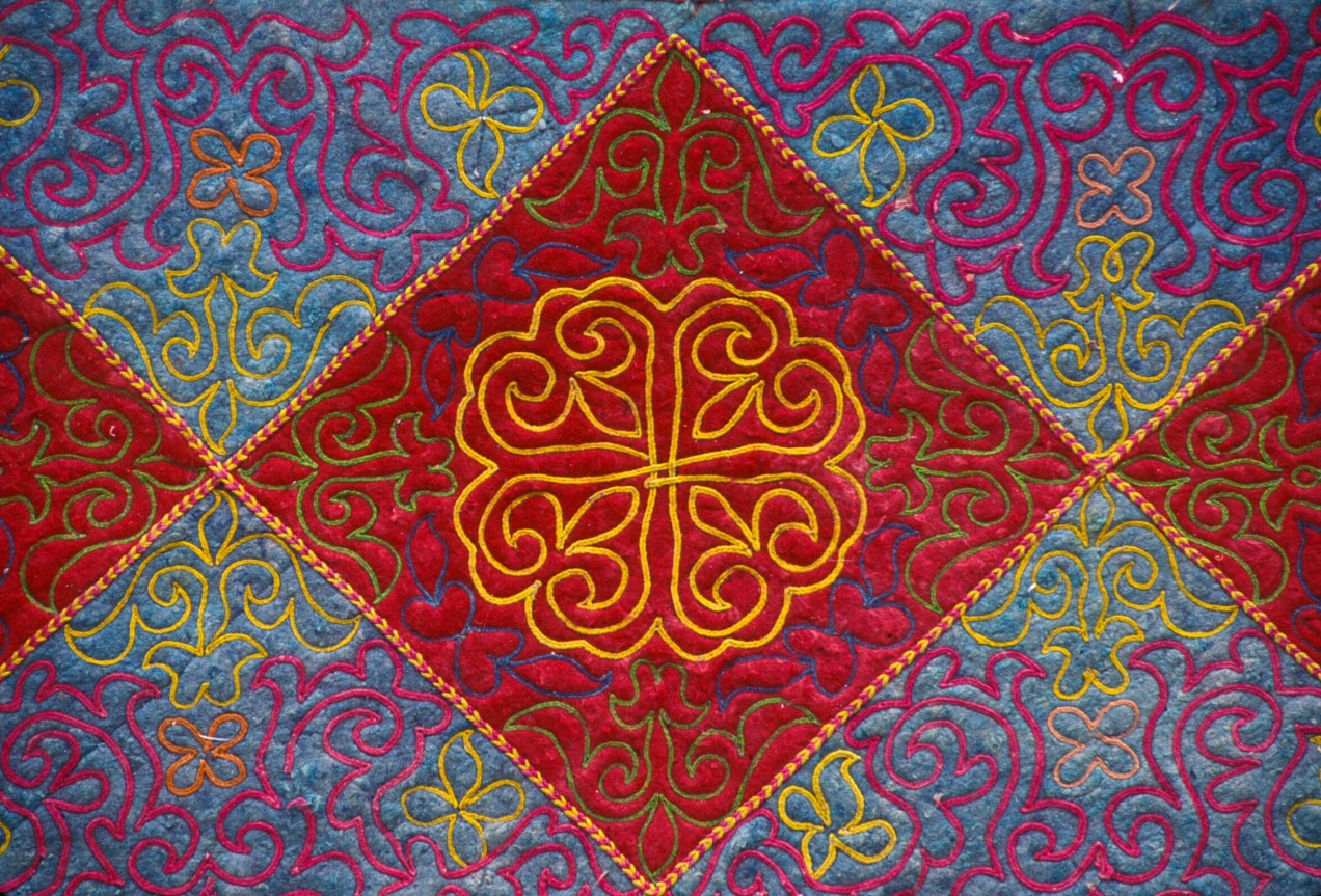 Textile, Tuskiiz, Embroidered Felt, Kazakhstan, Culture