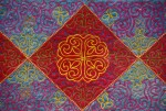 Textile, Tuskiiz, Embroidered Felt, Kazakhstan, Culture