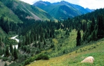 Bayankol River Valley, Tien Shan mountains, Kazakhstan, mountains,