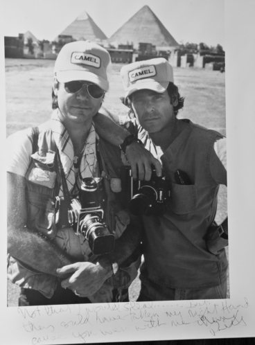 Photographer Bill Stettner and Photo Assistant, Wayne Eastep