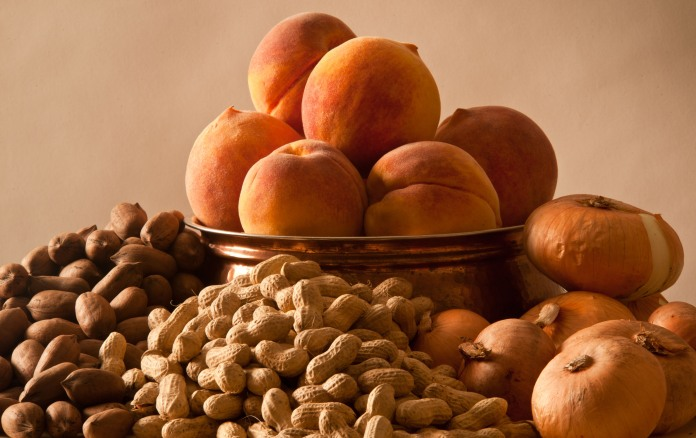 Pecans, Peanuts, Peaches, Vidalia Onions, Georgia