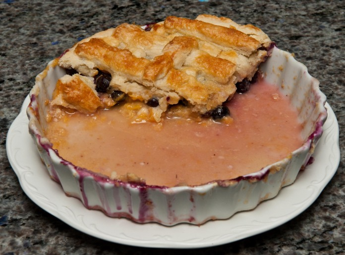 Homemade Peach Blueberry Pie