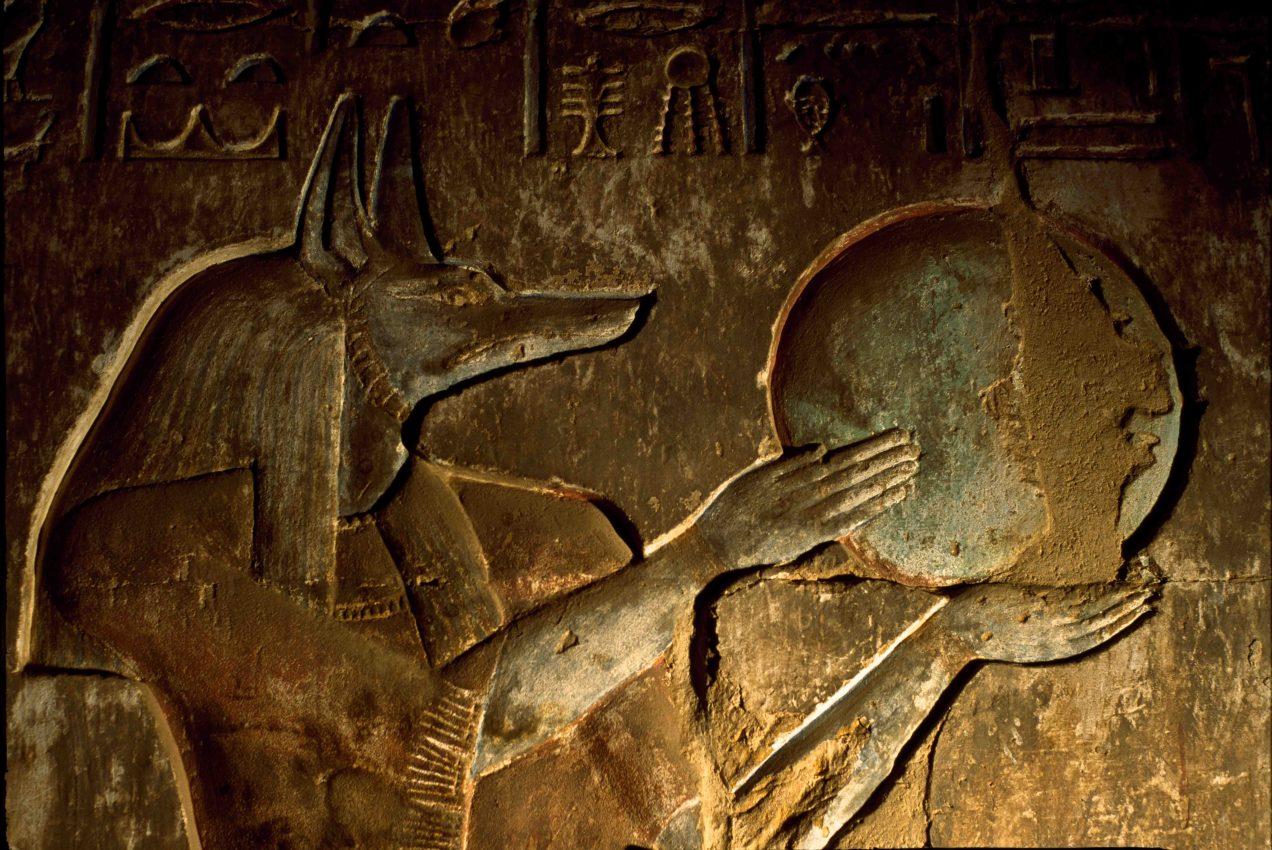 """Interior of tomb at Deir El-Medina """"Thebes"""""""