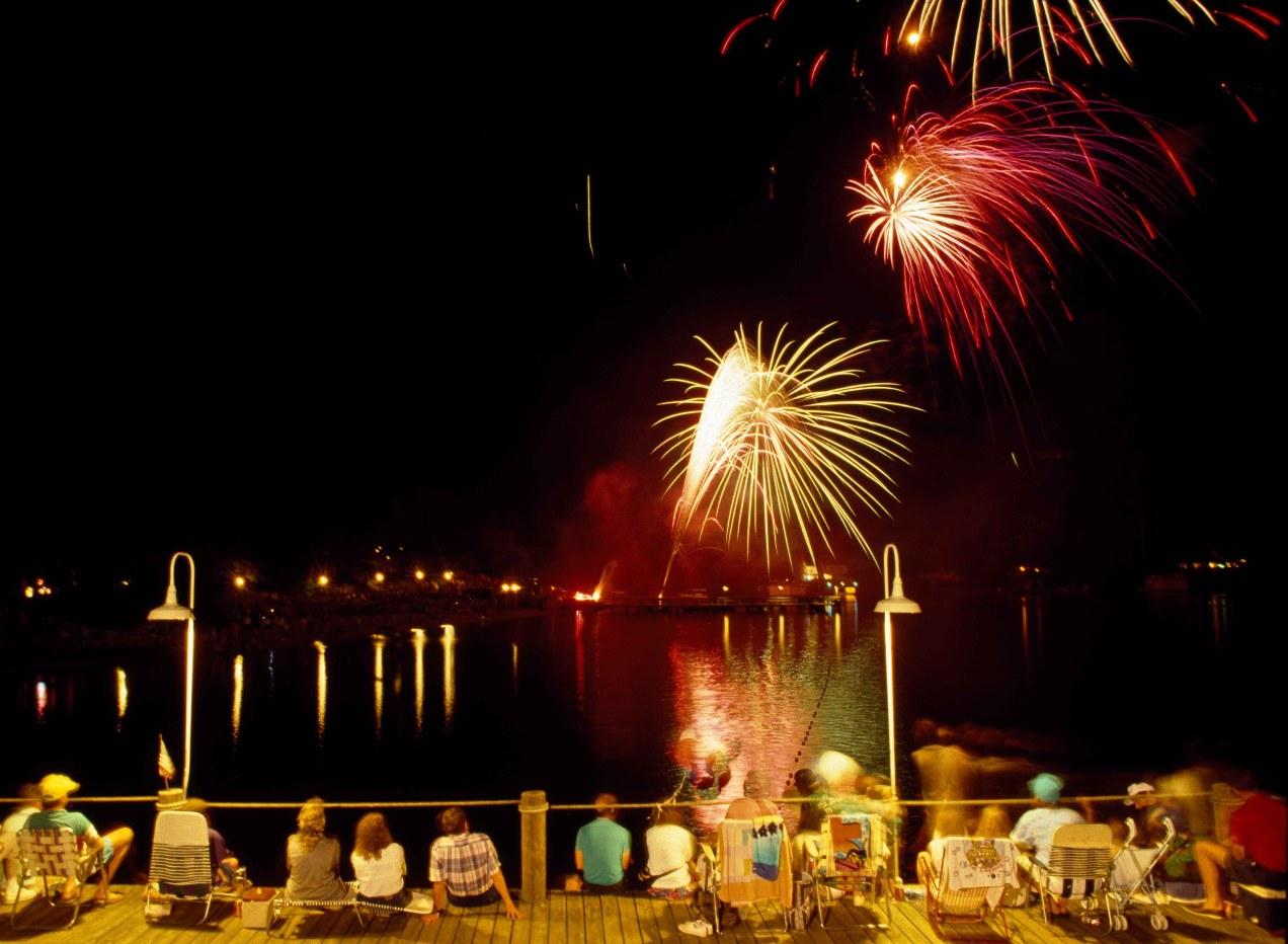 4th of July fireworks, Lake Lure, North Carolina