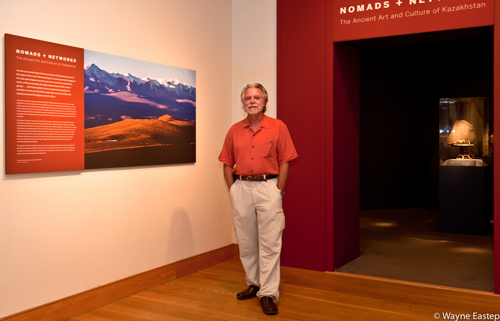 "Photographer Wayne Eastep at Kazakhstan exhibition ""Nomads & Networks"""