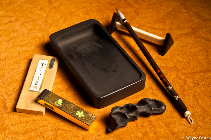 Sumi tools and materials for calligraphy