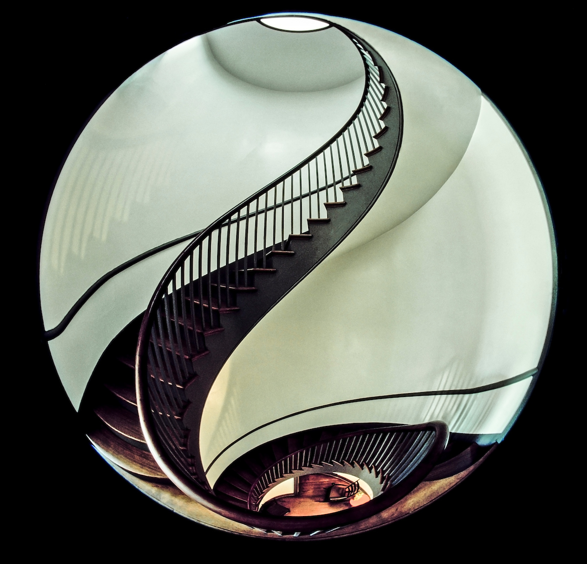 Architecture, Spiral Staircase, Shaker, Pleasant Hill, Kentucky, Art-of-Architecture