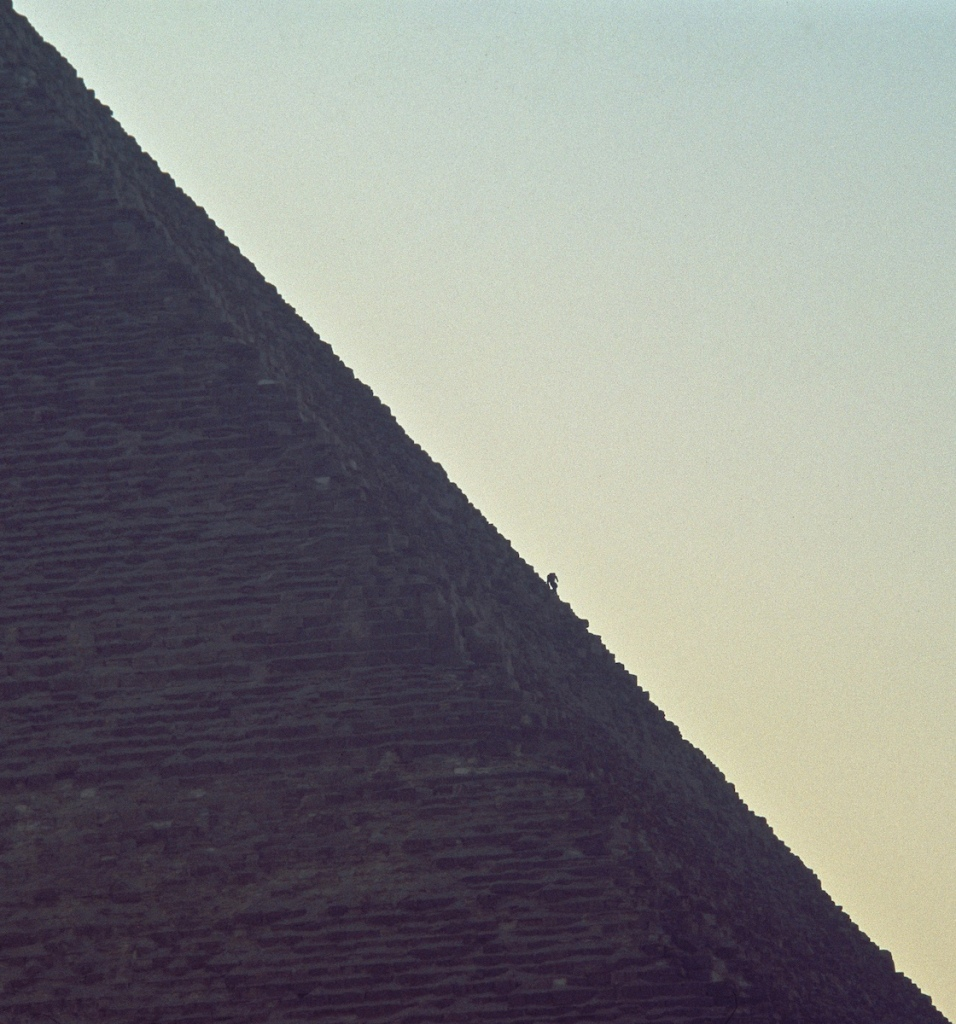 Great Pyramid, Giza Egypt, Black and White Photograph