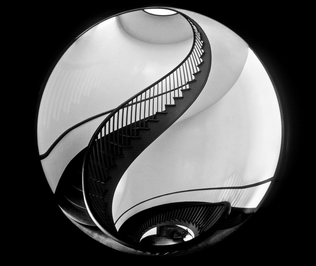 architecture, sprial staircase, shaker village, pleasant hill, kentucky
